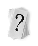 Cards with Question Marks Royalty Free Stock Images