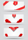 Cards with red ribbons vector Stock Photo