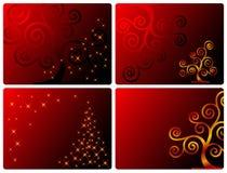 cards redseten royaltyfri illustrationer
