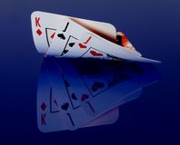 Cards with reflex Royalty Free Stock Photography