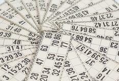 Cards for Russian lotto & x28;bingo game& x29; Stock Photos