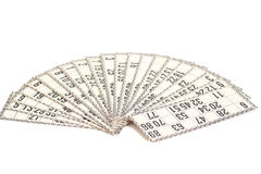 Cards for Russian lotto (bingo game) Stock Image