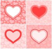 cards s-valentinen Royaltyfri Bild