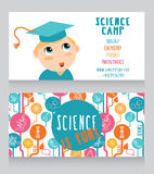 Cards for science camp Royalty Free Stock Photos