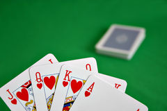 Cards Showing A Royal Flush Stock Image