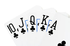 cards slät kunglig person för kasino Royaltyfri Bild