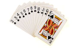 Cards of spades Royalty Free Stock Images
