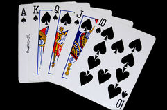 Cards spades Stock Photo