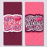 Cards for St. Valentine`s Day Stock Images