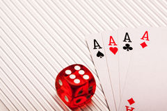 Cards in studio Stock Images
