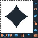 Cards suits icon flat vector illustration