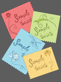 Cards with summer elements Stock Images