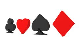 Cards symbols Royalty Free Stock Image