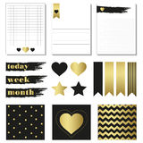 Cards and symbols for organized you planner. Royalty Free Stock Photography