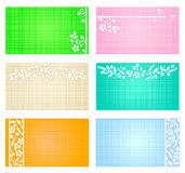 Cards and tags templates Royalty Free Stock Photo