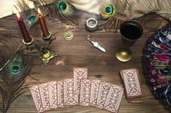 cards tarot Arkivbilder