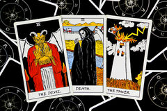 cards tarot royaltyfria foton