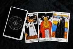 cards tarot Fotografering för Bildbyråer
