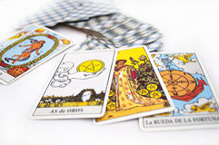cards tarot Royaltyfri Foto