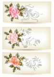 Cards template with roses Royalty Free Stock Photos