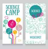 Cards template for science camp Stock Photo