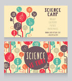 Cards template for science camp. Vector illustration vector illustration