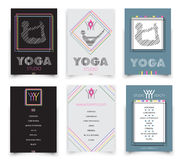 Cards template for yoga studio,  vector Royalty Free Stock Photo