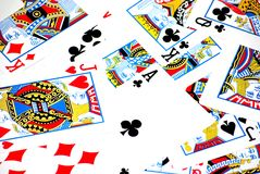 Cards texture Royalty Free Stock Photography