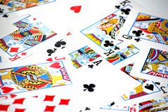 Cards texture Stock Image