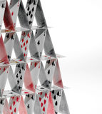 Cards tower Stock Image