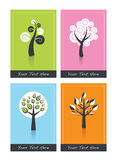 cards trees Stock Illustrationer