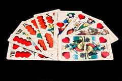 cards ungrare Royaltyfri Bild