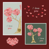 Cards for Valentine Day Stock Images