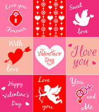 Cards for Valentine's day Stock Photography