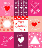 Cards for Valentine's day Stock Images