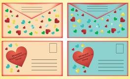 cards valentinen för dagstolpe s Royaltyfri Foto