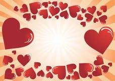 cards valentinen för dagstolpe s Royaltyfria Foton