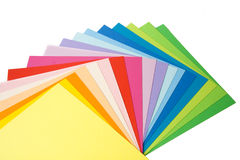 Cards of various colors Royalty Free Stock Images