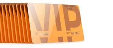 Cards vip discount orange Royalty Free Stock Image