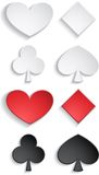 Cards on white. Set of cards suit with color and white. eps10 Stock Image
