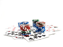Cards With Chips Stock Photos