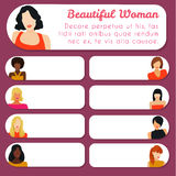 Cards with women Royalty Free Stock Photography