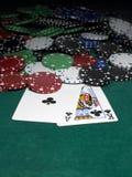 Cardsandchips Royalty-vrije Stock Afbeelding