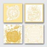 CardsRosh hashanah cards samlingen vektor illustrationer