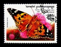 Cardui dipinto di signora Vanessa, serie delle farfalle, circa 1999 Immagine Stock Libera da Diritti