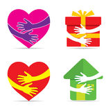 We care for all icon design Stock Images
