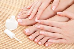 Care for beautiful nails Royalty Free Stock Images
