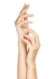 Care for beautiful woman hands Royalty Free Stock Image