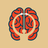 Care brain idea - illustration in human head Royalty Free Stock Photo
