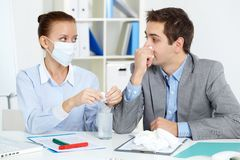 Care of business partner Stock Photography